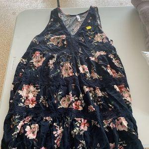 Floral sleeveless summer dress